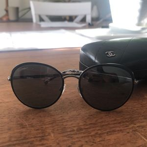 Black Round Chanel Sunglasses